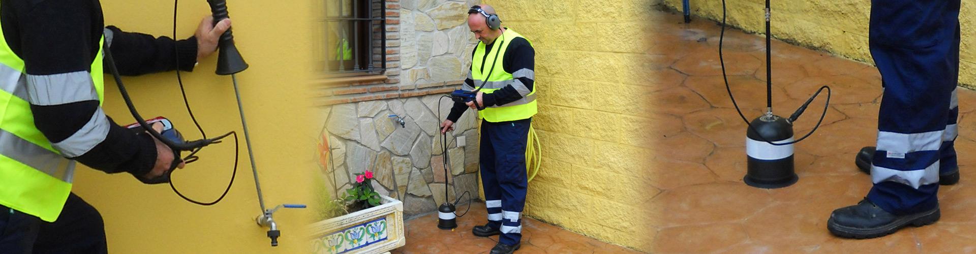 Localización de fugas de agua con geofono