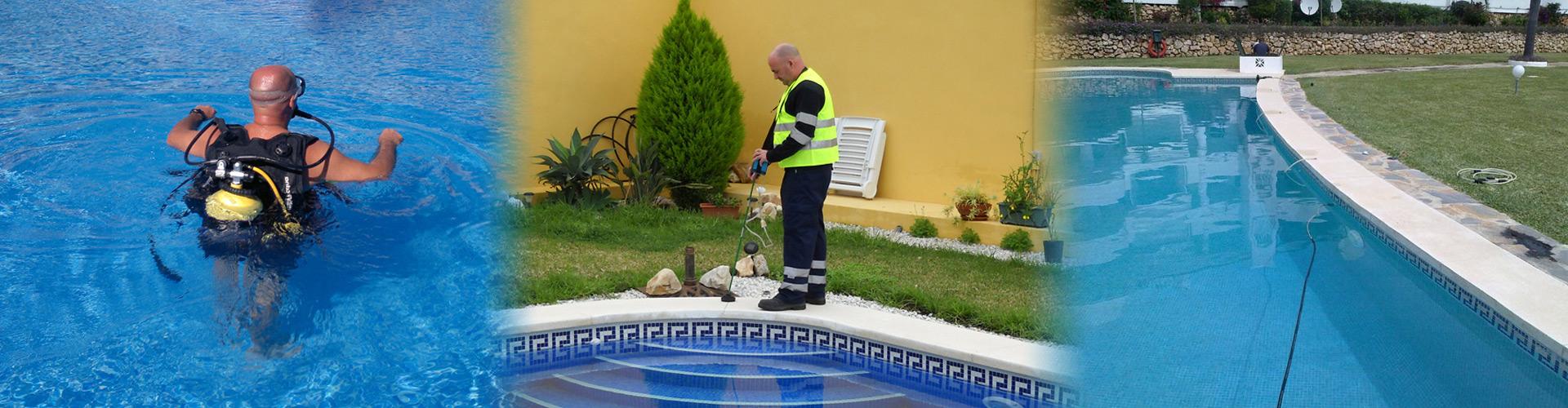Localización de fugas de agua en piscinas