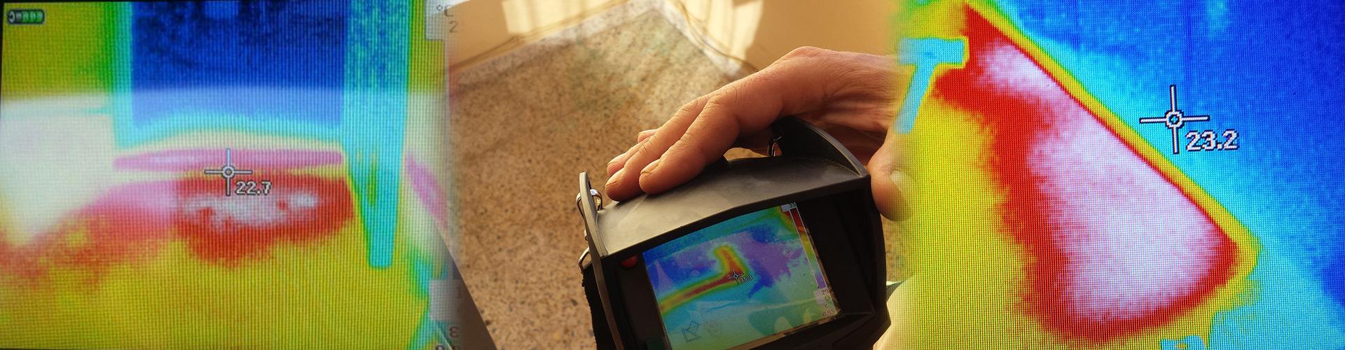 Localización de fugas de agua con cámara termografica