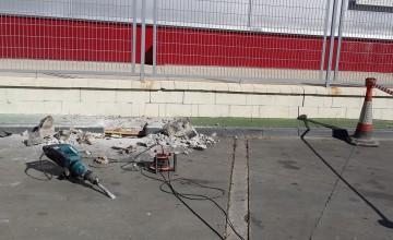 Localización de fuga de agua en gasolinera en Marbella
