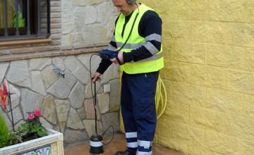 Localización de fugas de agua con geófono