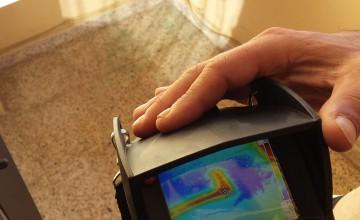 Localización de fugas de agua con cámara termografica / termovisión