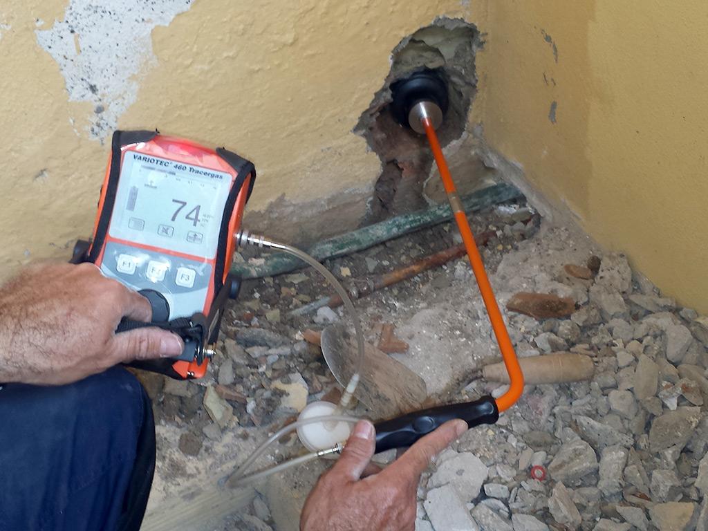 Localizaci n de fugas de agua con hidr geno gas trazado - Detector de tuberias de agua ...